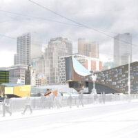Flinders Street Station Proposal - view from Princes Bridge