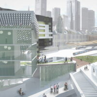 Flinders Street Station Proposal - view from Sandridge Bridge