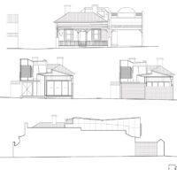 Pinwheel House Elevations