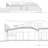 Pinwheel House Section and Elevation
